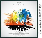 karate fighter | Shutterstock .eps vector #580931158