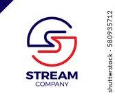 abstract letter s logo design... | Shutterstock .eps vector #580935712