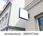 modern empty outdoor signage... | Shutterstock . vector #580937266