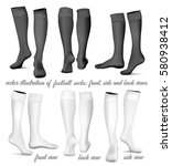 football socks  front  side and ... | Shutterstock .eps vector #580938412
