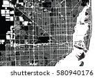 vector city map of miami ... | Shutterstock .eps vector #580940176