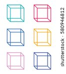 vector cube graphic | Shutterstock .eps vector #580946812