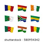vector flags  african countries ... | Shutterstock .eps vector #580954342