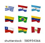 vector flags  south american...