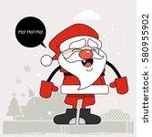 character cartoon santa claus | Shutterstock .eps vector #580955902