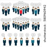 business teams   people icons... | Shutterstock .eps vector #580960942