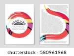 abstract vector layout...   Shutterstock .eps vector #580961968