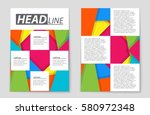 abstract vector layout... | Shutterstock .eps vector #580972348
