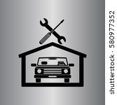 car in the garage icon ... | Shutterstock .eps vector #580977352