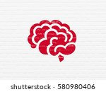 science concept  painted red... | Shutterstock . vector #580980406