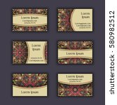 vector business card design... | Shutterstock .eps vector #580982512