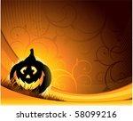 halloween pumpkin background | Shutterstock .eps vector #58099216