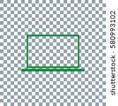 laptop icon vector. dark green...