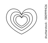 heart and love icon vector... | Shutterstock .eps vector #580999426
