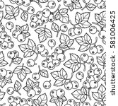 adult coloring book page design ... | Shutterstock .eps vector #581006425