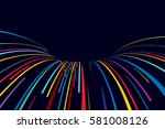 abstract line vector background | Shutterstock .eps vector #581008126