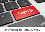 login icon and sign on a... | Shutterstock . vector #581009452