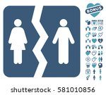 divorce icon with bonus... | Shutterstock .eps vector #581010856