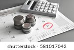 monthly saving and planning... | Shutterstock . vector #581017042
