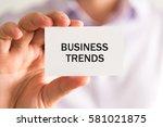 closeup on businessman holding... | Shutterstock . vector #581021875