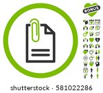 attach document icon with bonus ... | Shutterstock .eps vector #581022286