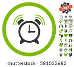 alarm clock ring pictograph... | Shutterstock .eps vector #581022682