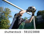 sport and people   soccer...   Shutterstock . vector #581023888
