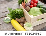 harvest  food and agriculture... | Shutterstock . vector #581024962