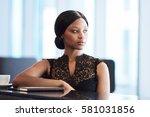beautiful young black woman... | Shutterstock . vector #581031856