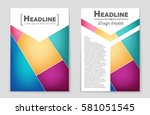abstract vector layout... | Shutterstock .eps vector #581051545