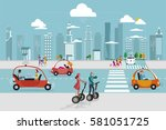road in the city with... | Shutterstock .eps vector #581051725