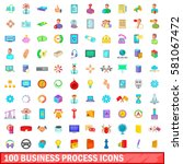100 business process icons set...   Shutterstock . vector #581067472