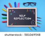 business concept writing self... | Shutterstock . vector #581069548