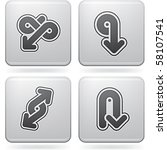miscellaneous platinum icons | Shutterstock .eps vector #58107541