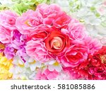 Stock photo roses background 581085886