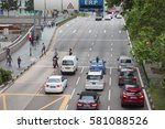 the traffic at eu tong sen... | Shutterstock . vector #581088526