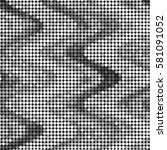 grunge halftone dots texture... | Shutterstock .eps vector #581091052