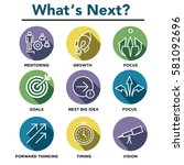 what's next icon set | Shutterstock .eps vector #581092696