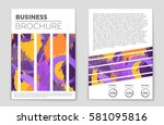 abstract vector layout... | Shutterstock .eps vector #581095816