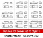 car sedan and suv and van all... | Shutterstock .eps vector #581095852