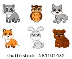 vector illustration of cute... | Shutterstock .eps vector #581101432