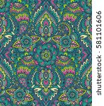 vector seamless pattern with... | Shutterstock .eps vector #581101606