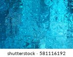 bright abstract mosaic blue... | Shutterstock . vector #581116192