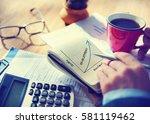 business success graphic upward ... | Shutterstock . vector #581119462
