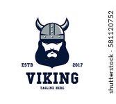 viking sport logo design... | Shutterstock .eps vector #581120752