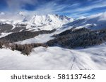 aerial mountain view of pila... | Shutterstock . vector #581137462