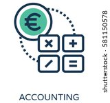 accounting vector icon | Shutterstock .eps vector #581150578