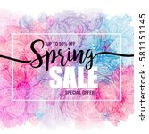 Poster Spring Sales On A Flora...