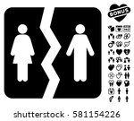 divorce pictograph with bonus... | Shutterstock .eps vector #581154226