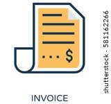 invoice vector icon  | Shutterstock .eps vector #581162266
